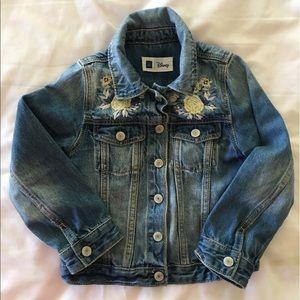 Baby Gap + Disney Belle embroidered denim jacket